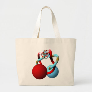 The Mating Dance of the Alexander Horned Spheres Large Tote Bag