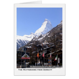 The Matterhorn from Zermatt Card
