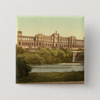 The Maximillianeum, Munich, Bavaria, Germany 2 Inch Square Button