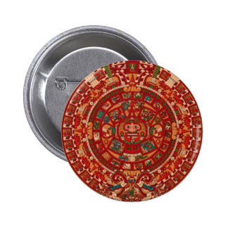 The Mayan / (Aztec) calendar wheel 2 Inch Round Button