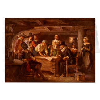 The Mayflower Compact by Jean Leon Gerome Ferris Card