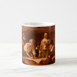 The Mayflower Compact by Jean Leon Gerome Ferris Coffee Mug