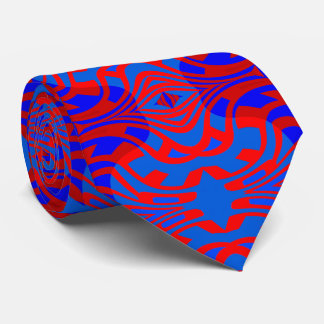 The Maze Fashion Tie for Men- Red/Royal Blue