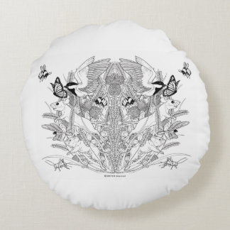 The Meadow Keepers Round Pillow