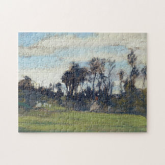 The Meadow Lined with Trees Monet Fine Art Puzzles