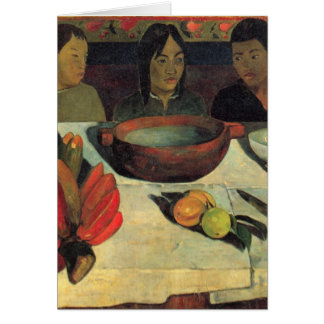 The Meal - Paul Gauguin Greeting Card