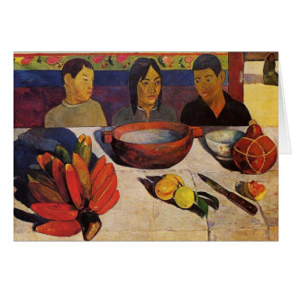 'The Meal' - Paul Gauguin Card