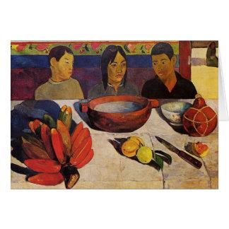 'The Meal' - Paul Gauguin Card