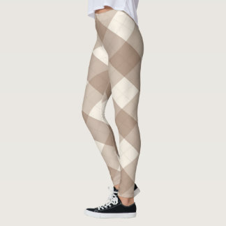 The MeanClique Argyle Brown Leggings