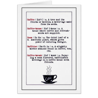 The Meaning of Coffee Card