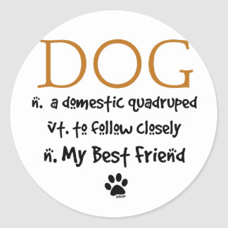 The Meaning of Dog Sticker