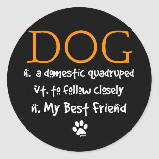 The Meaning of Dog Round Sticker