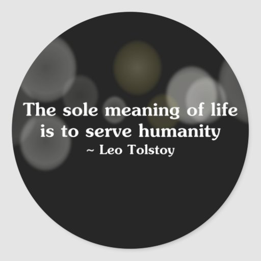 The meaning of life is to serve humanity (2) stickers