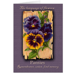 The Meaning of the Pansy Card