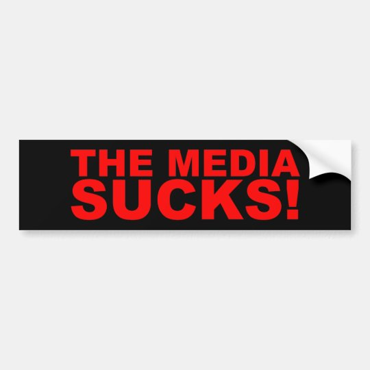 The Media Sucks! Bumper Sticker