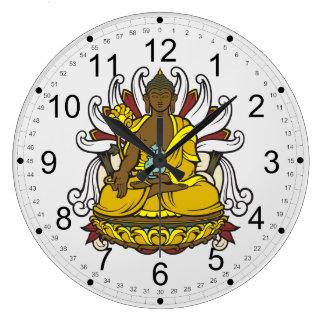 The Medicine Buddha Large Clock