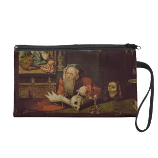 The Meditation of St. Jerome (oil on panel) Wristlet Clutches