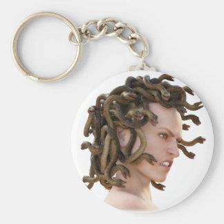 The Medusa Basic Round Button Keychain