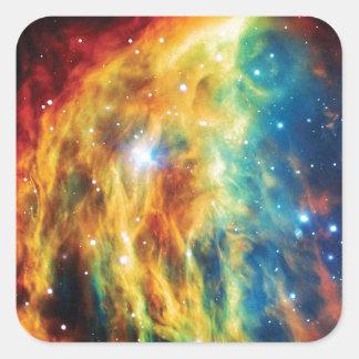 The Medusa Nebula Hubble Outer Space Photo Square Sticker