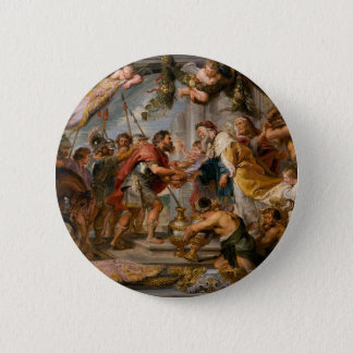 The Meeting of Abraham and Melchizedek Rubens Art 2 Inch Round Button
