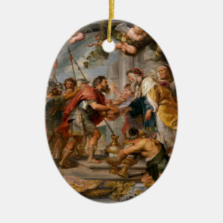 The Meeting of Abraham and Melchizedek Rubens Art Ceramic Oval Ornament