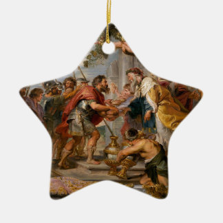 The Meeting of Abraham and Melchizedek Rubens Art Ceramic Star Ornament