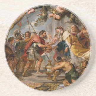 The Meeting of Abraham and Melchizedek Rubens Art Coaster