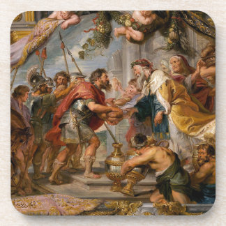 The Meeting of Abraham and Melchizedek Rubens Art Coaster