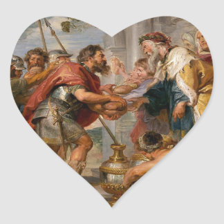 The Meeting of Abraham and Melchizedek Rubens Art Heart Sticker