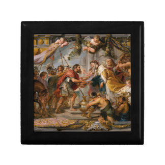 The Meeting of Abraham and Melchizedek Rubens Art Jewelry Boxes