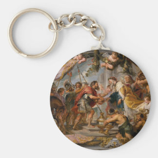 The Meeting of Abraham and Melchizedek Rubens Art Keychain