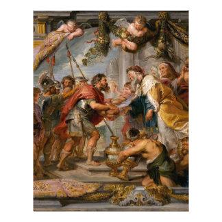 The Meeting of Abraham and Melchizedek Rubens Art Letterhead Template