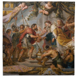 The Meeting of Abraham and Melchizedek Rubens Art Napkin