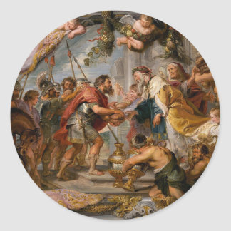 The Meeting of Abraham and Melchizedek Rubens Art Round Sticker