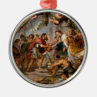 The Meeting of Abraham and Melchizedek Rubens Art Silver-Colored Round Ornament