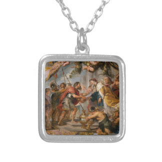 The Meeting of Abraham and Melchizedek Rubens Art Silver Plated Necklace