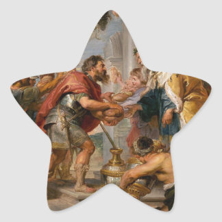 The Meeting of Abraham and Melchizedek Rubens Art Star Sticker