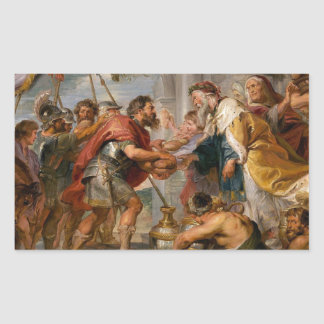The Meeting of Abraham and Melchizedek Rubens Art Sticker