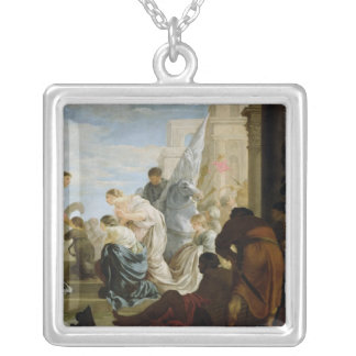 The Meeting of Anthony and Cleopatra, c.1645 Silver Plated Necklace