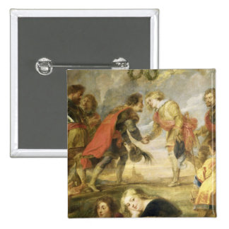 The Meeting of Ferdinand II 2 Inch Square Button