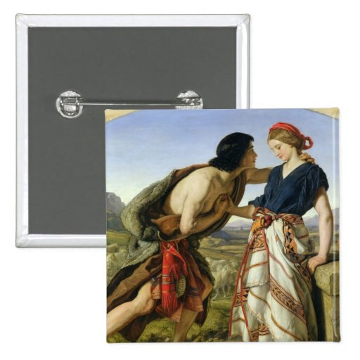 The Meeting of Jacob and Rachel, 1853 Pin