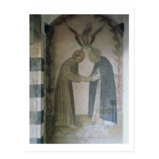 The Meeting of St. Dominic and St. Francis (fresco Postcard