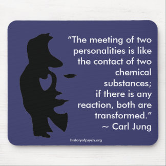 The meeting of two personalities mousepad