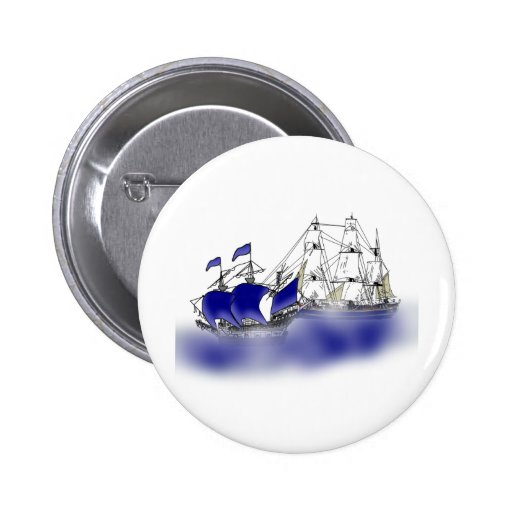 The Meeting of Two Tall Ships Pinback Button