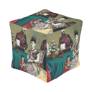 The Meiji Emperor of Japan and the Imperial Family Pouf