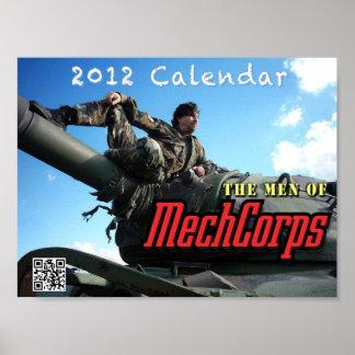 The Men of MechCorps calendar poster