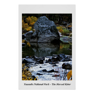 THE MERCED RIVER IN YOSEMITE VALLEY PRINT