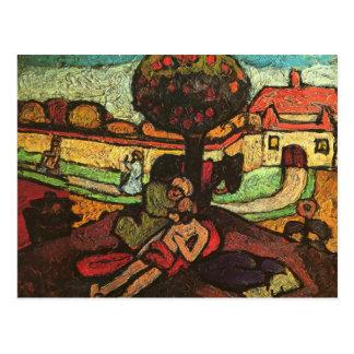 The merciful Samaritan by Paula Modersohn-Becker Postcard