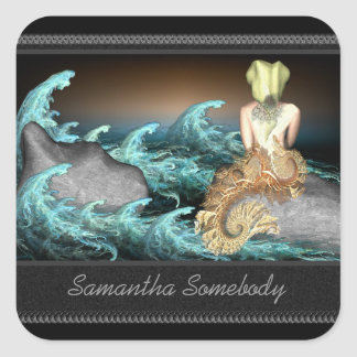 The Mermaid Bookplate Stickers