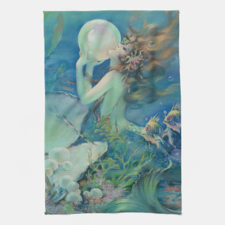 The Mermaid by Henry Clive Kitchen Towel